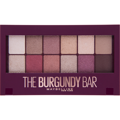 Maybelline New York Burgundy Bar paleta sjenila za oči slika 1